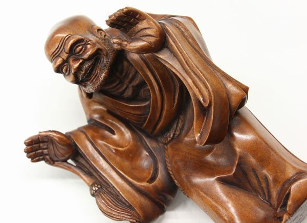 Chinese boxwood lohan figures lot