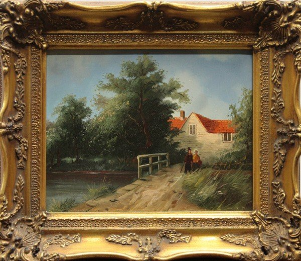 563: Paintings, European Village Scenes : Lot 563