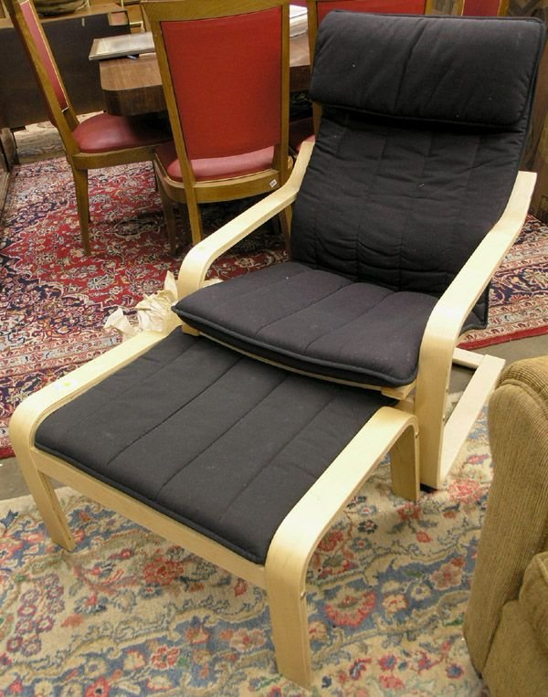 4338 Ikea Lounge Chair And Ottoman Lot 4338