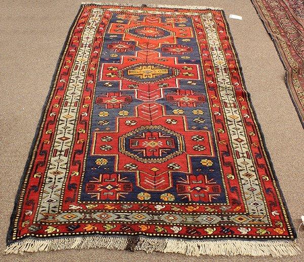 Semi Antique Caucasian Kazak Rug : Lot 2135