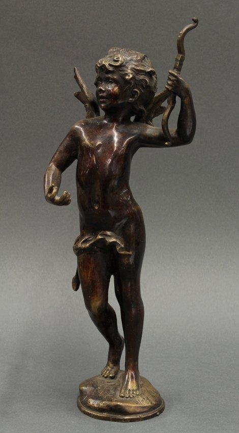 Bronze After Auguste Moreau Cupid Lot 6336