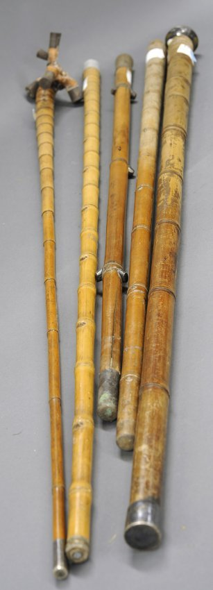 Indonesian bamboo walking sticks lot a