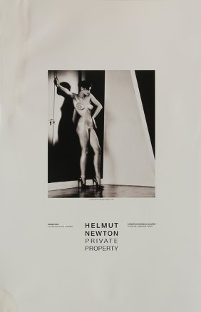 poster helmut newton sylvie in my studio paris 1981 lot 2282a. Black Bedroom Furniture Sets. Home Design Ideas