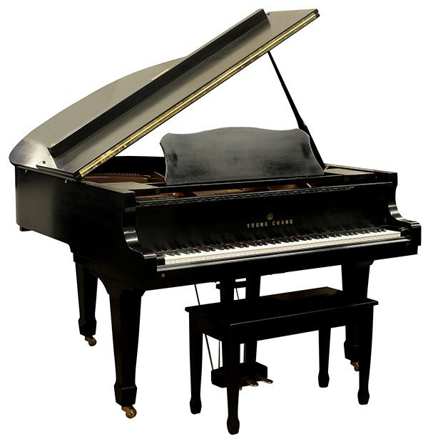 young chang model g 157 baby grand piano lot 6413. Black Bedroom Furniture Sets. Home Design Ideas