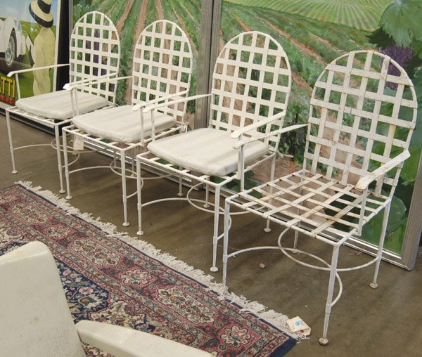 104 vintage wrought iron patio chairs lot 104
