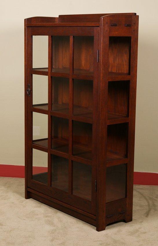 Gustav Stickley One Door China Cabinet Lot 288