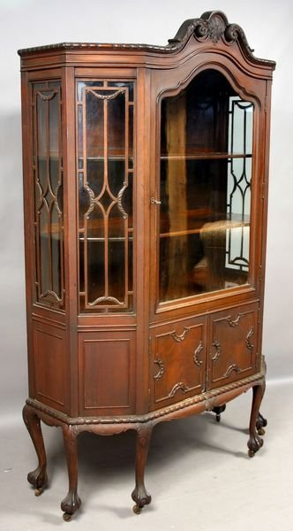 4079 antique chippendale style china cabinet lot 4079