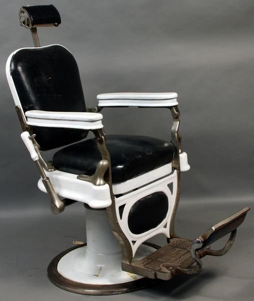Barber Dentist : 8017: Antique Barber or Dentists Chair, Theo Kochs : Lot 8017