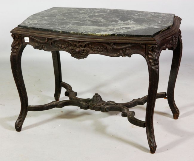 19th C. French Marble Top Table : Lot 8349