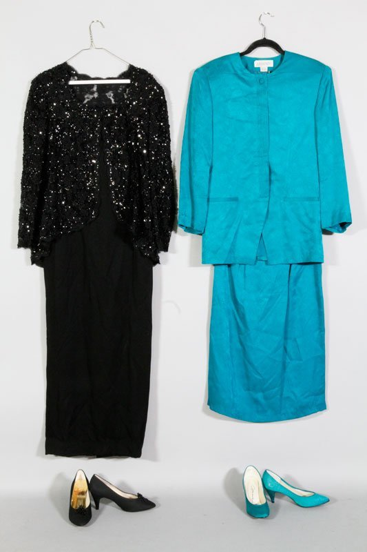 2 handmade dresses and matching shoes lot 2271
