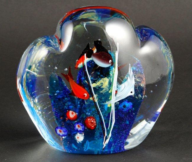murano glass aquarium paperweight lot 8043a. Black Bedroom Furniture Sets. Home Design Ideas