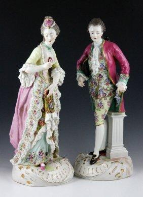 18th C Pair Samson Porcelain Figures Lot 3476