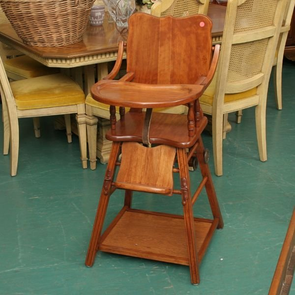 1214 1940 s convertible high chair play table 17 1 2