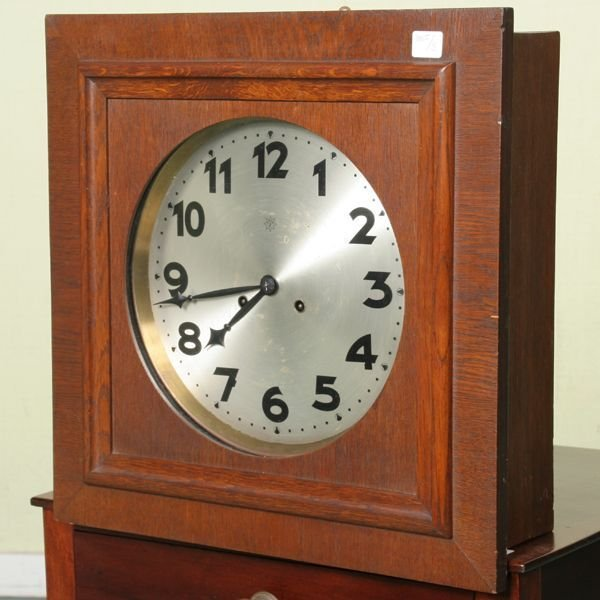 148 early 1900 arts and crafts wall clock junghans b for Arts and crafts style wall clock