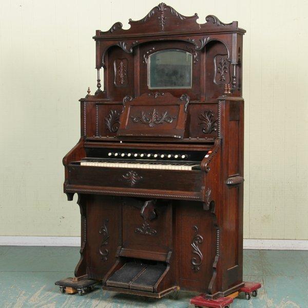 Antique Solid Walnut Pump Pedal Organ by Estey Organ Co ...