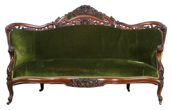 60 1860 Rococo Victorian Sofa J H Belter NYC Lami Lot 60