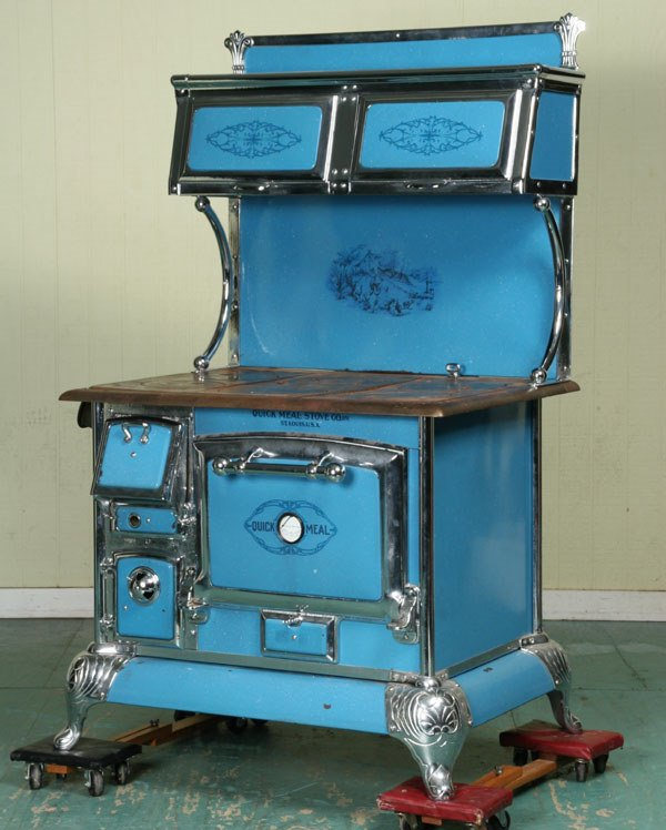 1091 Early 1900 Cast Iron Wood Burning Cook Stove Qui