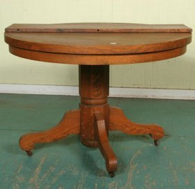 Dining Table Tiger Oak Round Dining Table