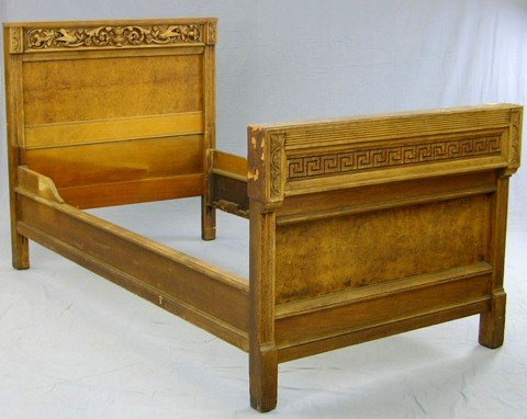 1230 Carved And Pollard Oak Three Quarter Size Bed 19