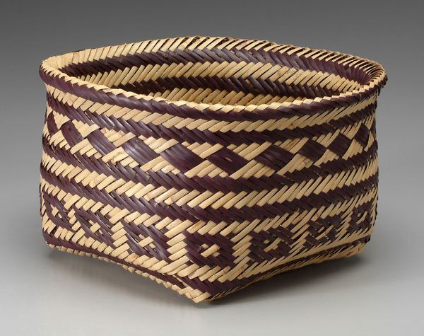 How To Weave A Cane Basket : Double woven river cane basket lot