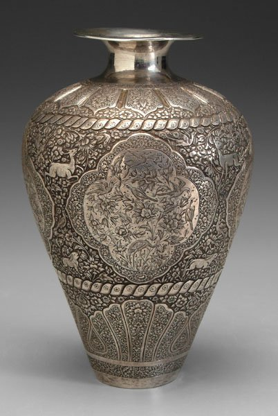 484 persian silver vase lot 484