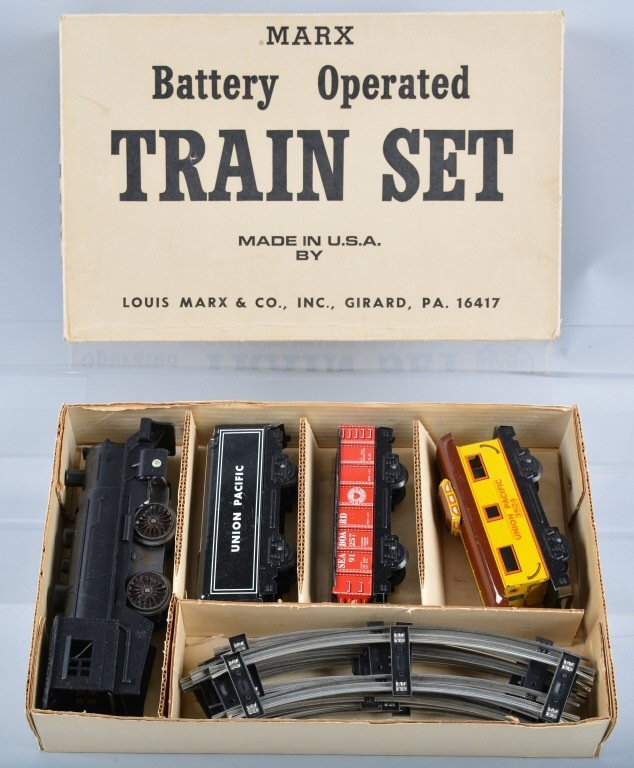 Battery Train Set : Marx battery operated train set new old stock lot