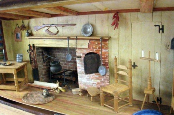 84 Colonial Keeping Room Shadowbox Lot 84