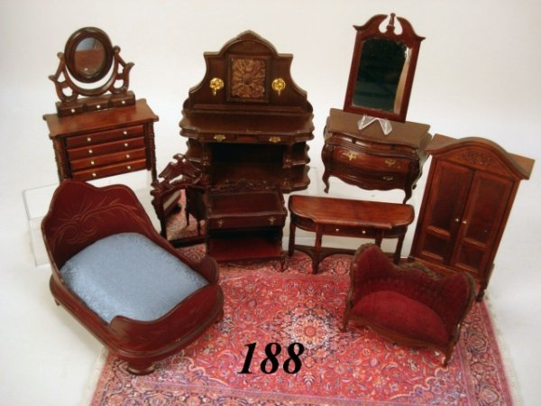 188 contemporary victorian dollhouse furniture lot 188 for Contemporary victorian furniture