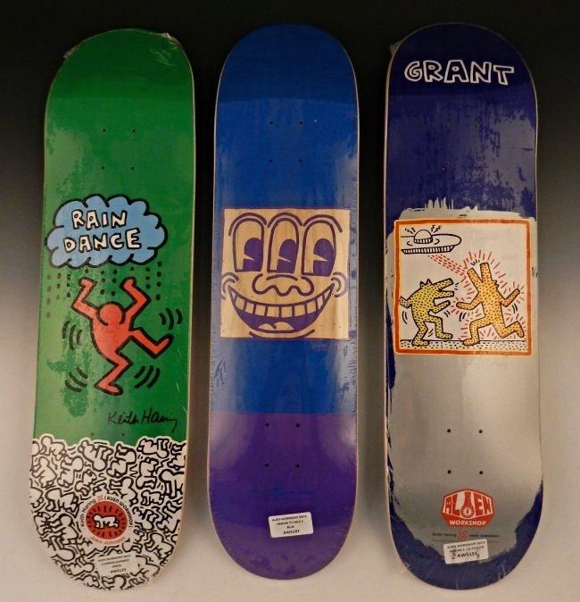 After Keith Haring Skateboard Decks Lot 103