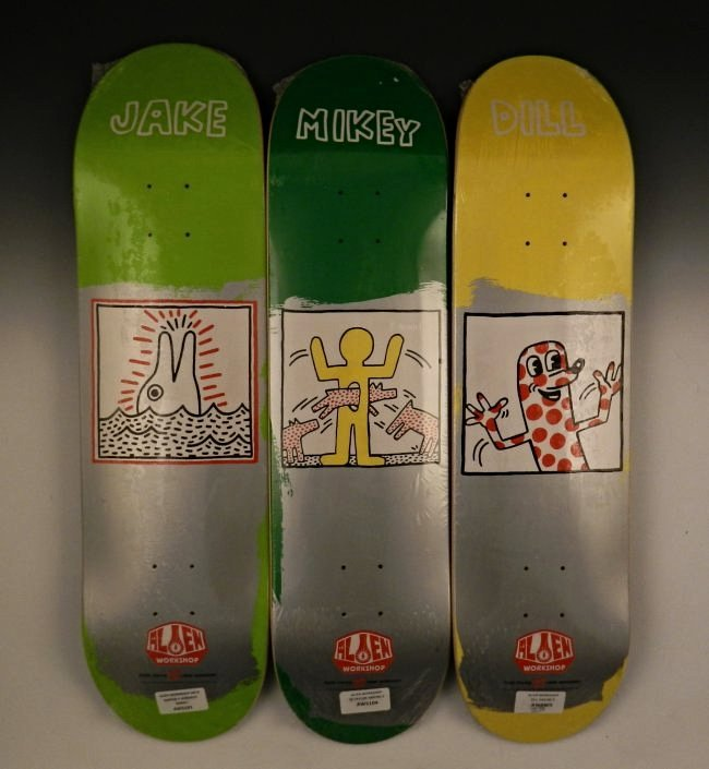 After Keith Haring Skateboard Decks Lot 123