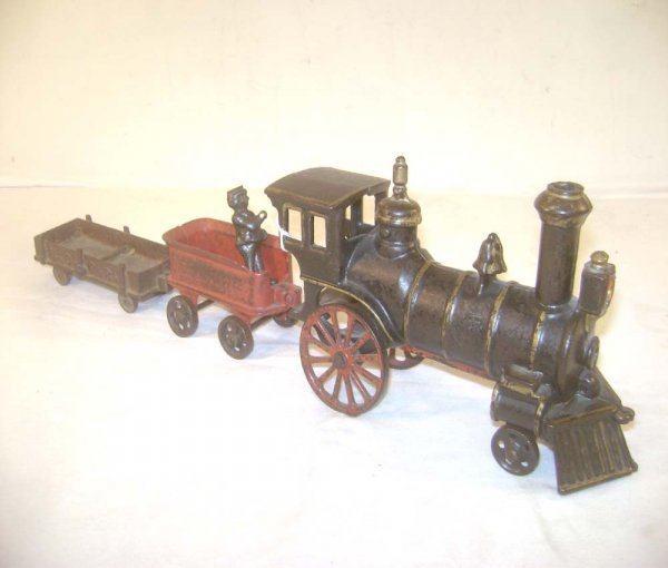 Nycrr Cast Iron Train: 150: ABT: Rare Ives 1880s/90s Trackless Cast Iron Train