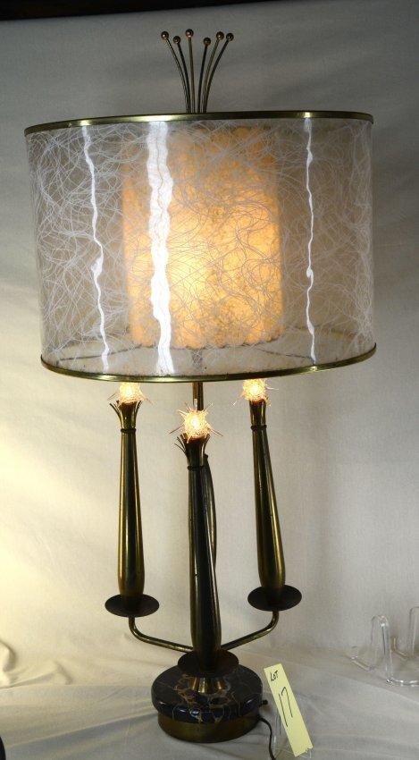 mid century sputnick lamp with original shade lot 17. Black Bedroom Furniture Sets. Home Design Ideas
