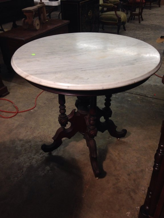 Foyer Table With Marble Top : Hall table with marble top lot