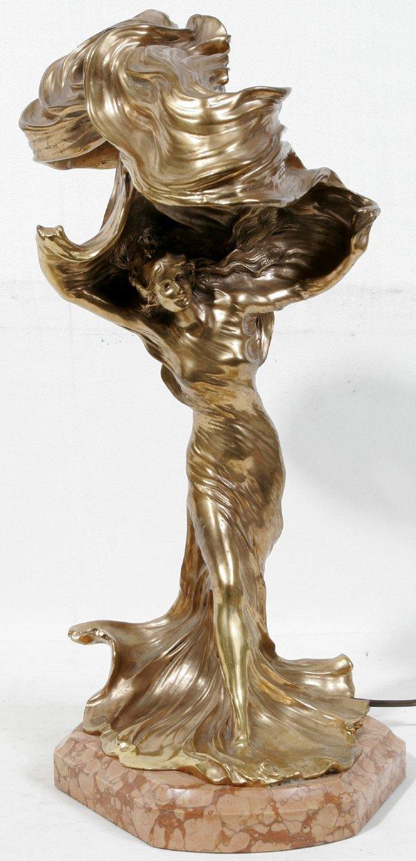 021091 francois raoul larche bronze loie fuller l lot 21091