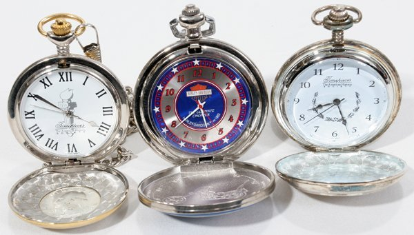 040533 collector s pocket watches by franklin mint lot