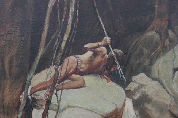 042210: AMERICAN OIL NATIVE AMERICAN SPEAR FISHING : Lot 42210