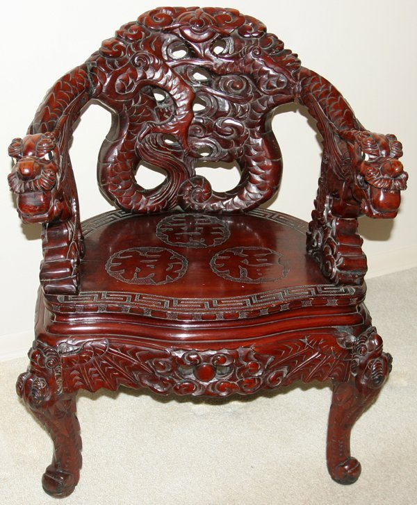 Chinese Dragon Teak Wood Chair C1900 Wooden Art And Objects Hewn - Antique Chinese Dragon Chair - Best 2000+ Antique Decor Ideas