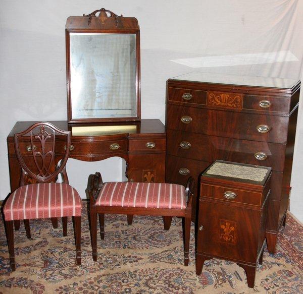 051189 berkey gay mahogany bedroom furniture 6 pcs lot 51189