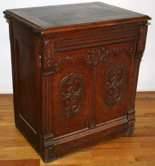 oak sewing machine cabinet