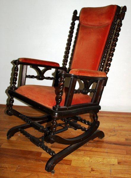 101150: AMERICAN VICTORIAN PLATFORM ROCKING CHAIR, : Lot 101150 - Platform Rocking Chair Design ~ Home & Interior Design