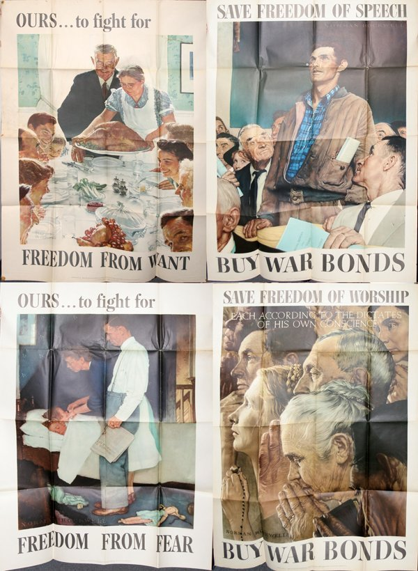 Norman Rockwell Four Freedoms Poster - Image Mag