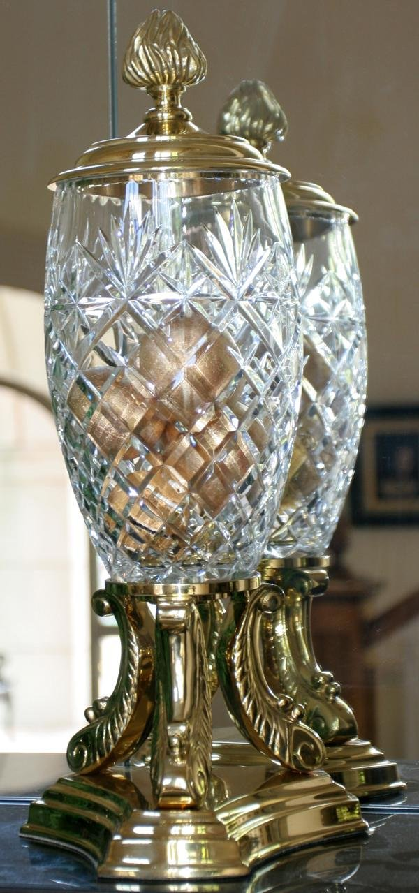 082405 decorative crafts inc crystal and brass urn for Decorative crafts inc brass