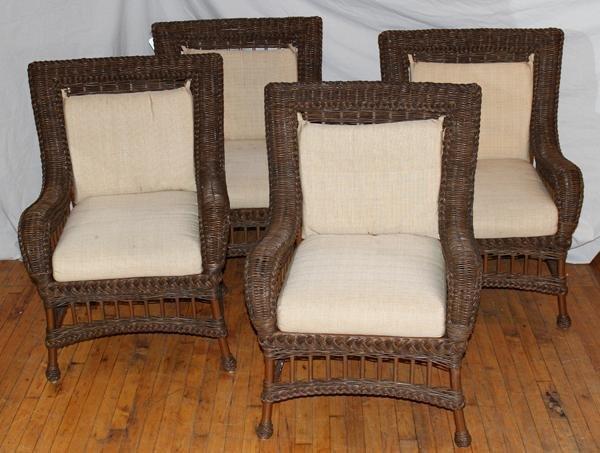 ethan allen wicker patio furniture 8 pcs lot 100064