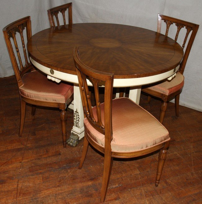 030082 karges mahogany dining room table chairs lot 30082 for Mahogany dining room table