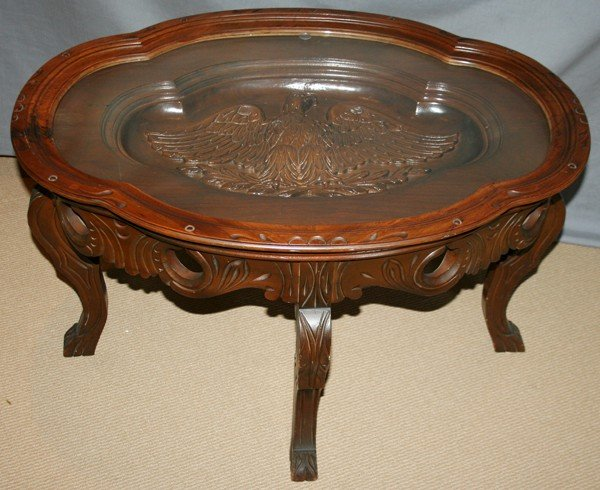 060340 Federal Style Carved Walnut Coffee Table Lot 60340
