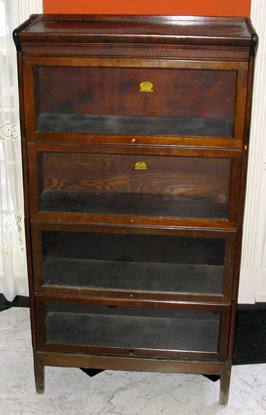 102323 Grand Rapids Furniture Oak Barrister Bookcase Lot 102323
