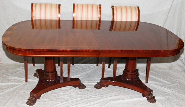102027 KINDEL MAHOGANY DINING ROOM TABLE amp 12 CHAIRS  : 131649711l from liveauctioneers.com size 600 x 350 jpeg 40kB
