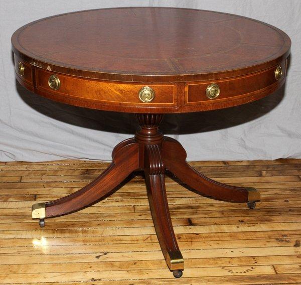 Riveted Drum Table | Grandin Road