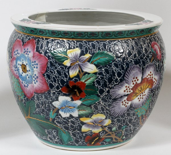Chinese pottery fish bowl modern h 10 lot 91509 for Chinese fish bowl