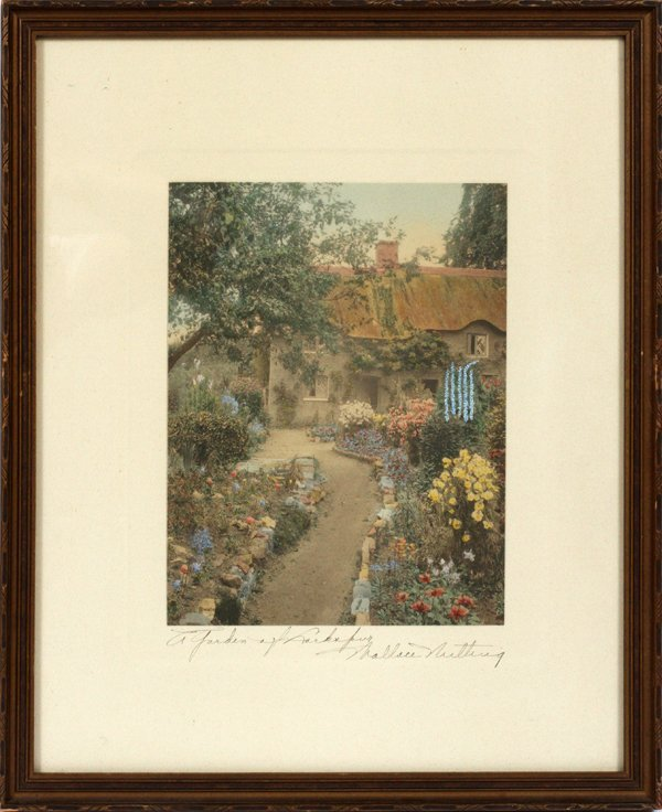 Wallace Nutting Signed Print Lot 110385